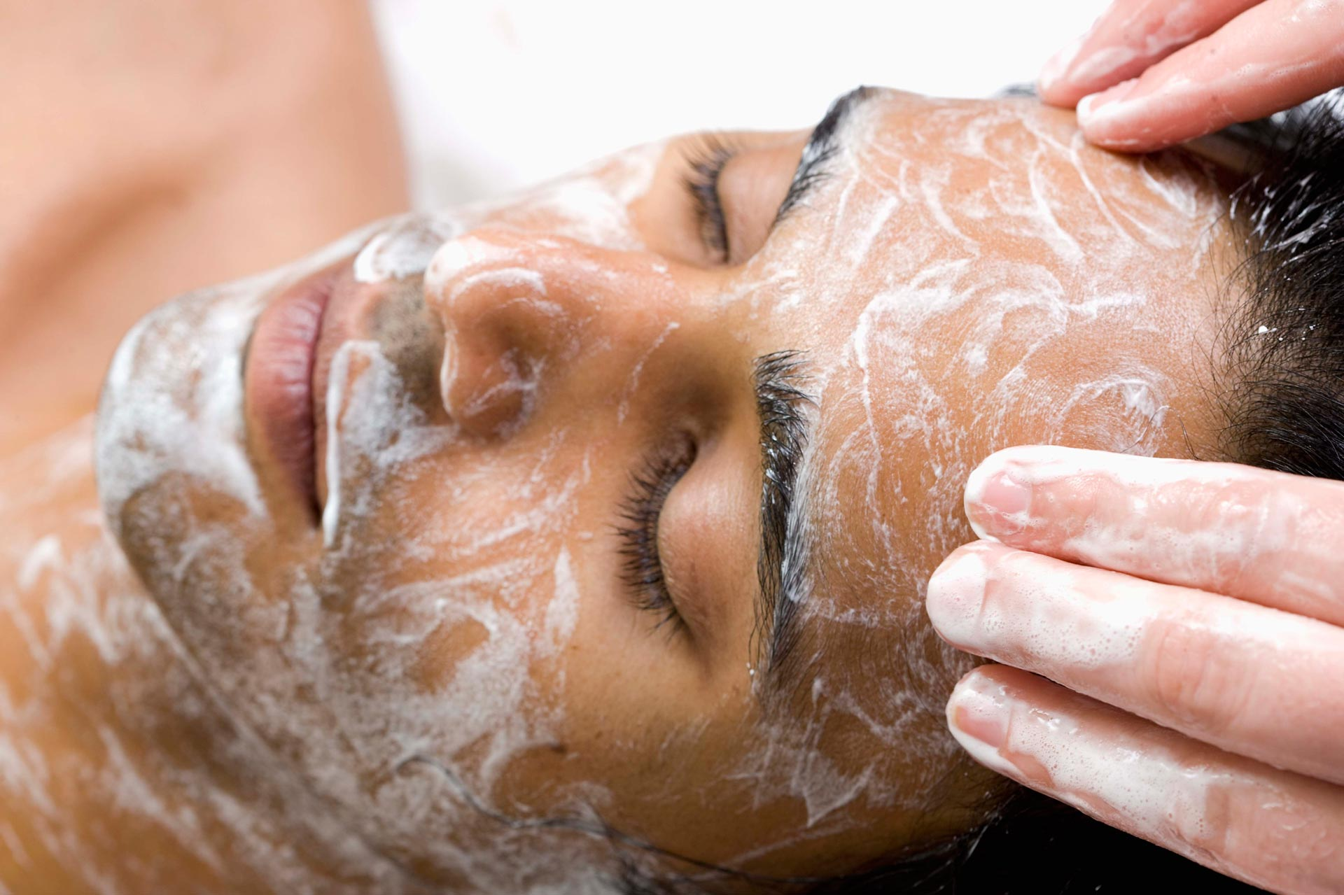 Man having a facial