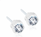 Medical Plastic Clear Crystal Earrings