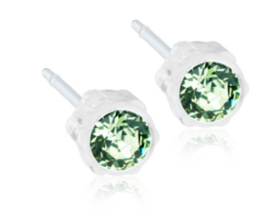 Medical Plastic Peridot Earrings