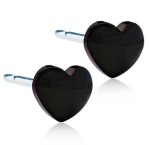 Medical Titanium Black Heart 8mm
