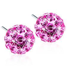 Medical Titanium Crystal Ball Rose 6mm