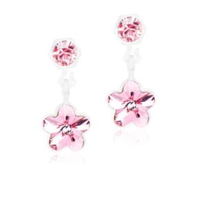 Medical Plastic Pendant Light Rose Flower Earrings