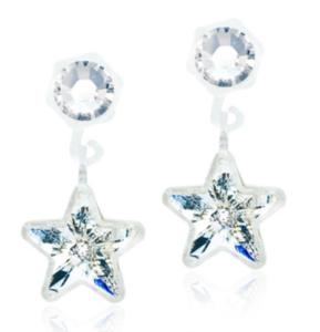 Medical Plastic Pendant Clear Crystal Star Earrings